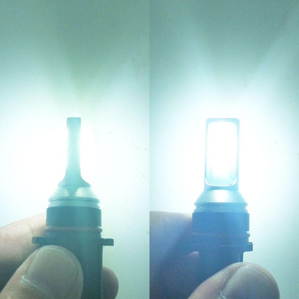 Image 5 - 2 قطعة P13W 12 سمد 3535 النقي الأبيض لمبة سيارة ليد DRL الضباب ضوء السيارات النهار تشغيل أضواء مصباح قيادة 12 فولت 24 فولت 6000 كيلومصباح ضباب للسيارة   -