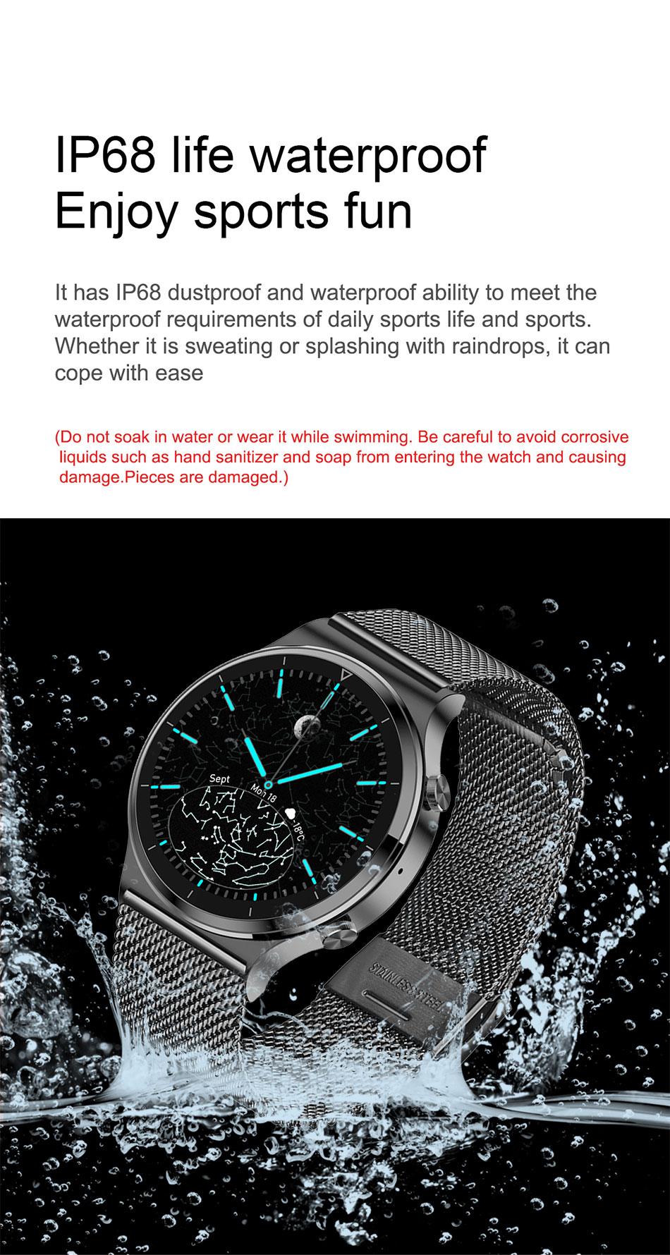 Hdf7bc6e44e4e4b6cbc0e054ad9fd9551d LIGE 2021 New Smart watch Men IP68 waterproof watch Multiple sports modes heart rate weather Forecast Bluetooth Men Smart watch