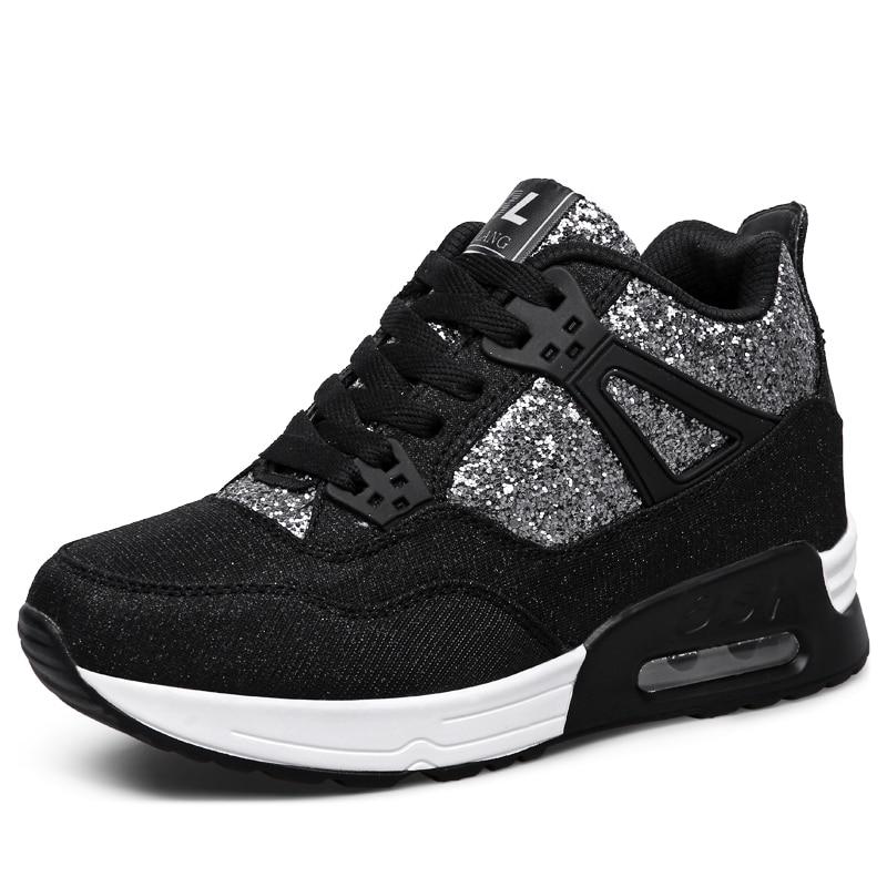 Sneakers Women Tennis Shoes Height Increasing Tenis De Plataforma Para Mujer Female Fitness Wedge Shoes Walking Jogging Trainers