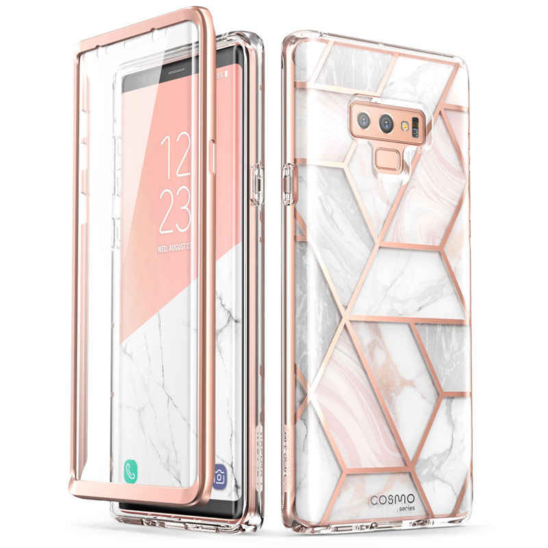I-BLASON For Samsung Galaxy Note 9 Case Cosmo Full-Body Glitter Marble Bumper Protective Cover with Built-in Screen Protector