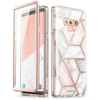 I-BLASON Für Samsung Galaxy Note 9 Fall Cosmo Volle-Körper Glitter Marmor Stoßstange Schutzhülle mit Gebaut-in screen Protector
