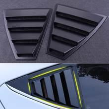 Распродажа, идеальные черные боковые вентиляционные решетки для заднего стекла, четверть жалюзи, подходят для Hyundai Elantra 2017-2019, оптовая прода...