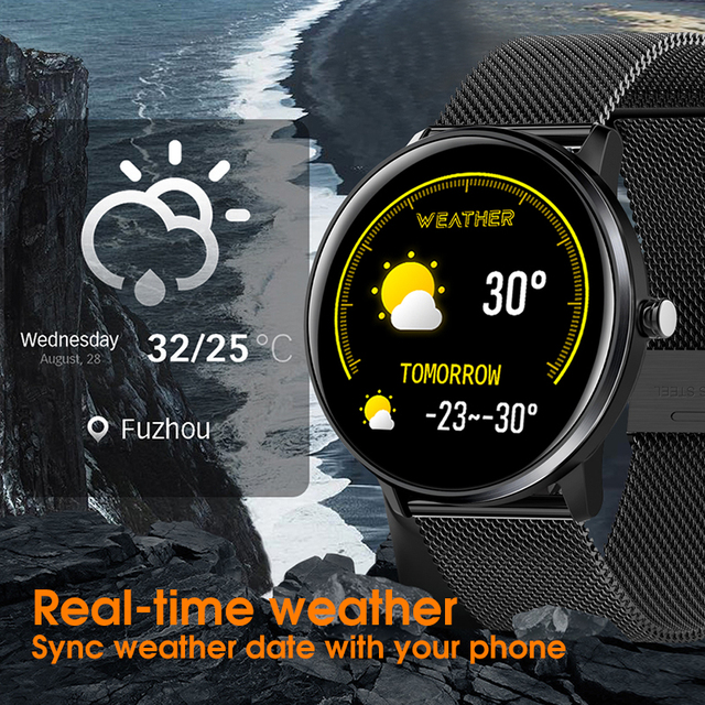 LYKRY MX6 Smartwatch IP68 Waterproof Sport watch Bracelet Band with Multi-Languages Manual Heart Rate Monitor for Android iOs 3