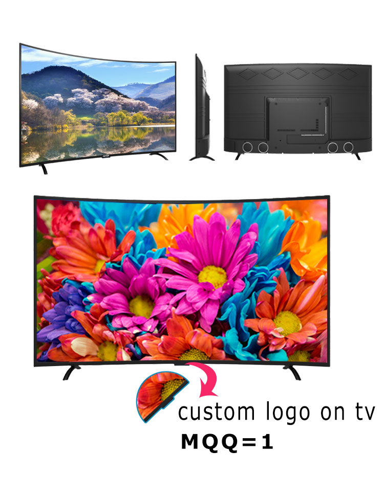 Free shipping-new product 43 inch UHD 4k tv smart television led tv curved screen with DVB-S2/T2