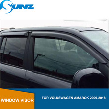 Car door visor For Volkswagen VW Amarok 2009-2018  window rain protector for accessories SUNZ