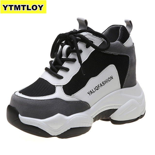 2020 New Designer Sneakers Women Platform Casual Shoes Fashion White  Platform Basket Femme Yellow Sneakers BOOT Casual  Chunky