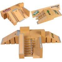 Mini Tabla de Patinaje con dedos de aleación juguetes de combinación de juguetes para niños, pista de patineta, juego de juguetes educativos para niños, regalos de cumpleaños