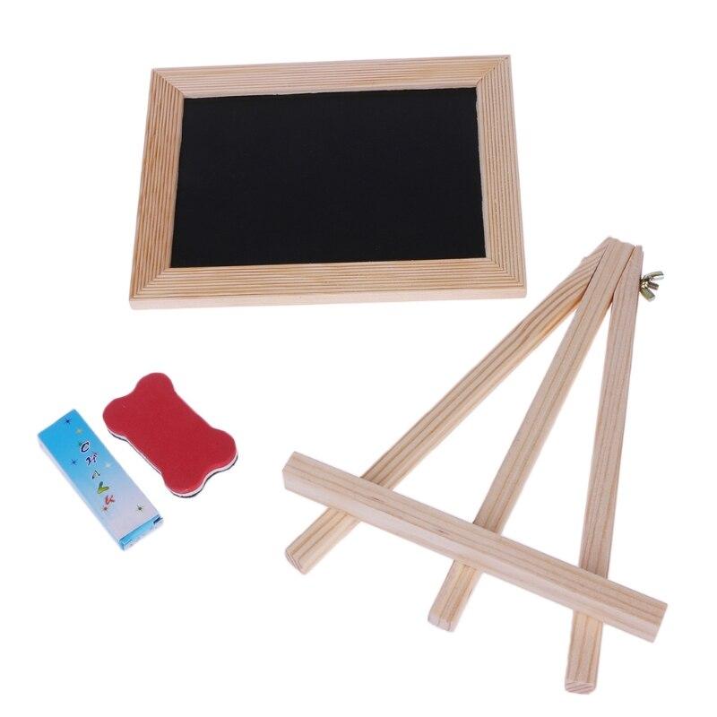 Wood Frame Desktop White Whiteboard Children Kids Toy Chalk Wipe Board 20.5cmx15.5cm