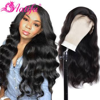 13x4 Body Wave Wigs Peruvian 150% Density Lace Front Wig Pre Plucked Human Hair Lace Frontal Wig Aatifa Hair peruvian water wave lace front human hair wigs lace frontal wigs 13x4 pre plucked natural hairline 150% remy bob wigs