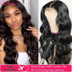 Satai фронтальный парик с волнистым кружевом, бразильские волосы Remy, закрывающий парик с волнистым кружевом, предварительно отобранные челов...