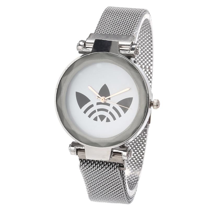 Reloj Mujer Luxury Brand AD Women Sports Quartz Watch Women Fashion Casual Dress Clover Watch Magnet Strap Girl Gift Relogios