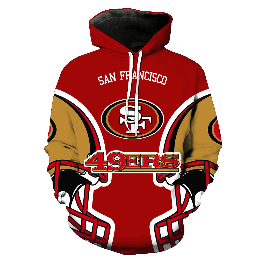 2019 Europe And America Hot Selling Rugby 3D Printed Hooded Pullover Men's Fashion Hooded Sweater Men's