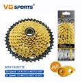 Кассета для горного велосипеда MTB, 10, 11 скоростей, велоцидад, части, Золотая цепь свободного хода, набор звездочек 11-42T 11-46T 11-50T 11-52T