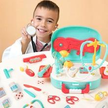 16 шт. Детские ролевые игры, доктор, игрушки для детей, Обучающие ролевые игры, набор лекарств, коробка, креативные игровые игрушки, подарки# g4