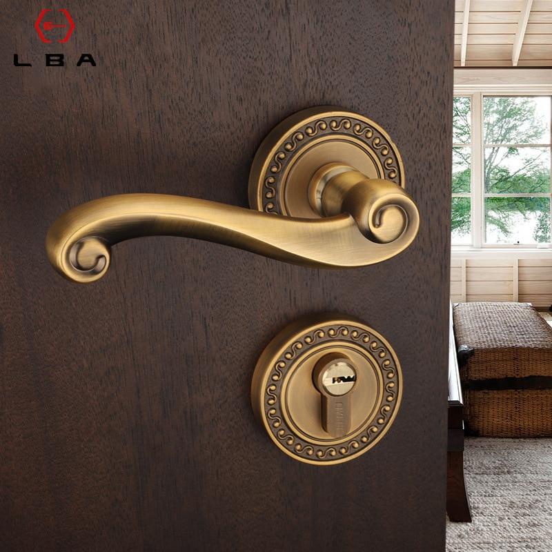 LBA grande maison produits haute qualité Protection personnelle maison porte serrure européenne lumière luxe en alliage de Zinc meubles coulissants serrure de porte