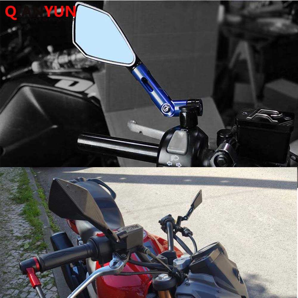 מראה אחורית אופנוע אוניברסלי CNC כל אלומיניום מקרה עבור סוזוקי SV1000/S SV650/S Vstrom 650 SFV650 GSR600 GSR750 K6 K7 K8