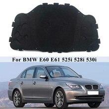 Alfombrilla de aislamiento térmico para motor de coche, almohadilla de algodón insonorizada para BMW E60, E61, 525i, 528i, 530i, 51487148208
