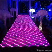 60 X 60 cm /pcs Classic luxury Colorful LED Crystal Wedding Decoration Aisle Runner T Station Stage Mirror Carpet Free Shipping