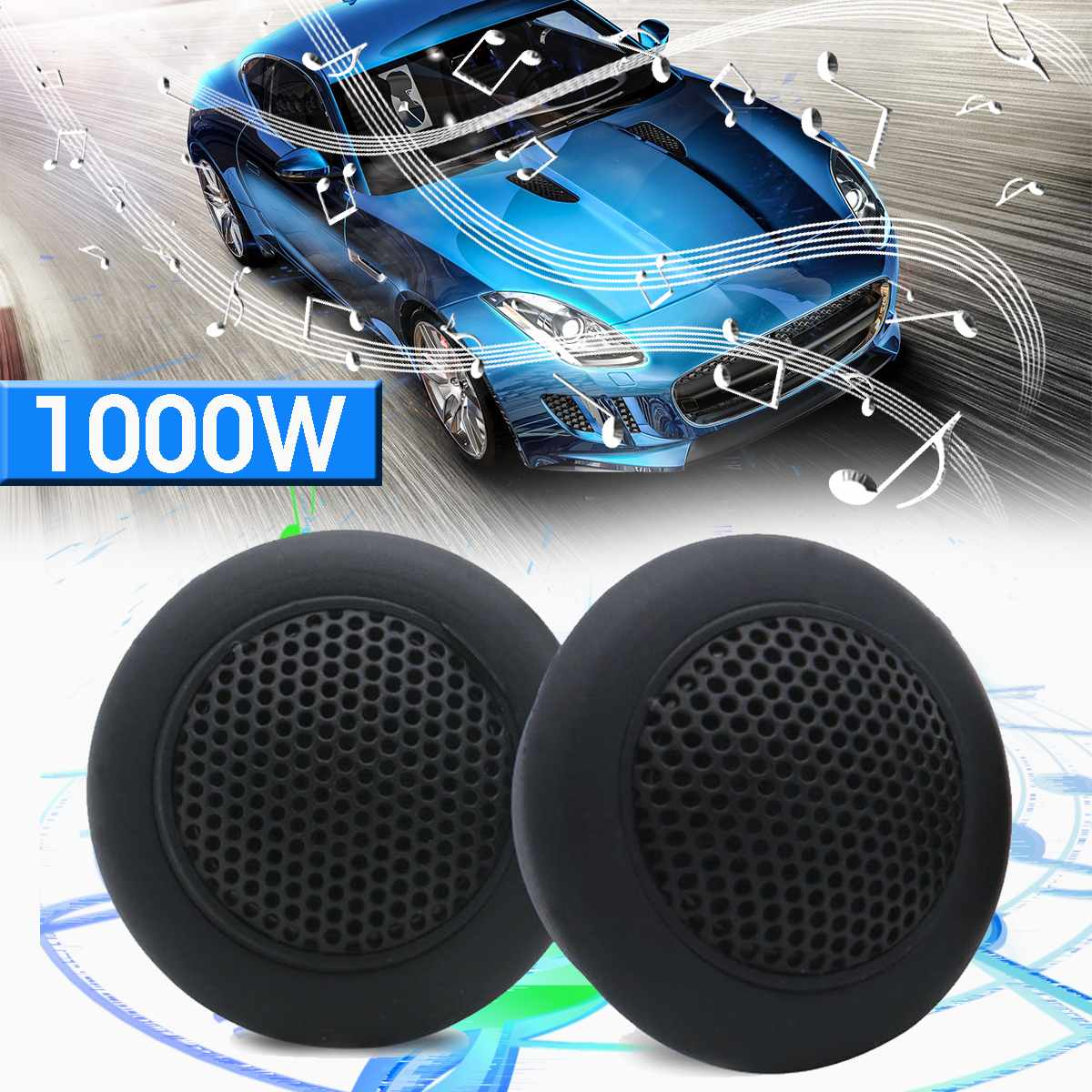 2pcs Micro Dome Tweeters 89db 12V 24V 1000W Car Audio Music Speakers Automobile Horn Loudspeaker Stereo Treble Tweeters Speaker|Tweeters| |  - title=