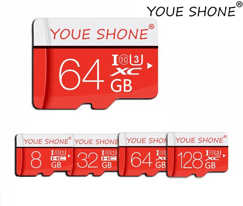 Tarjeta de memoria de 8 GB 16GB 32GB 64GB 128GB Micro SD TF Tarjeta de 128 64 32 16 de Clase 10 de 8 GB Mini TF tarjeta Flash Tarjeta de conducir con adaptador Tira de LED para iluminación trasera para LG 32