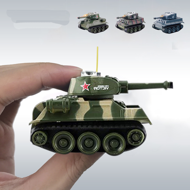 Cute Mini Tiger <font><b>RC</b></font> Tank Model Imitate <font><b>Scale</b></font> Remote Radio Control Tank Radio Controlled Electronic Toys Tank for Children Kids image