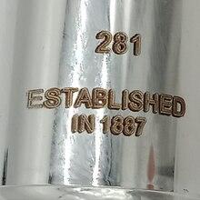 Флейта 281 Посеребренная профессиональная флейта инструмент промежуточные студенческие флейты C ноги 16 закрытых отверстий E ключ