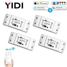 Wifi Smart Light App Control Switch Universal Breaker Wireless Remote Control Smart home tuya App voice control timer switch