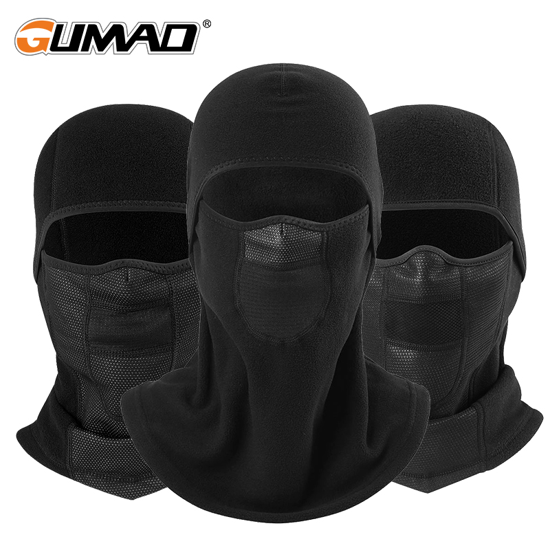 Winter Fleece Cycling Warm Balaclava Full Face Mask Thermal Liner Sports Ski Bike Bicycle Snowboard Cold Face Shield Hat Scarf