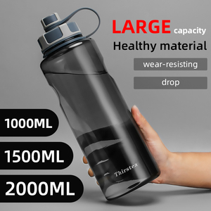 BPA Free Outdoor Water Bottles 1000ml 1.5L 2L big Capacity Plastic sports bottle with tea infuser Fitness leak-proof My Bottle(China)
