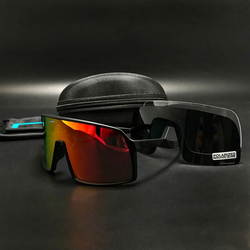 Cycling Glasses Sports Polarized Cycling Sutro Sunglasses UV400 Mountain Riding Bike Glasses Photochromism Gafas Ciclismo 3 Lens