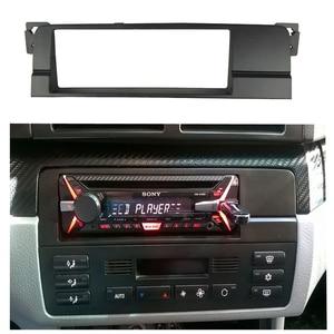 Image 5 - Bir Din Fascias BMW 3 serisi için E46 1998 2005 CD DVD Stereo radyo paneli Dash Trim kiti çerçeve çerçeve kablo demeti ile anten adaptörü