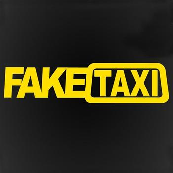 1Pcs FAKE TAXI Car Stickers Reflective Stickers Funny Window Vinyl Decals Car Styling Self Adhesive Emblem Car Stickers Decor image