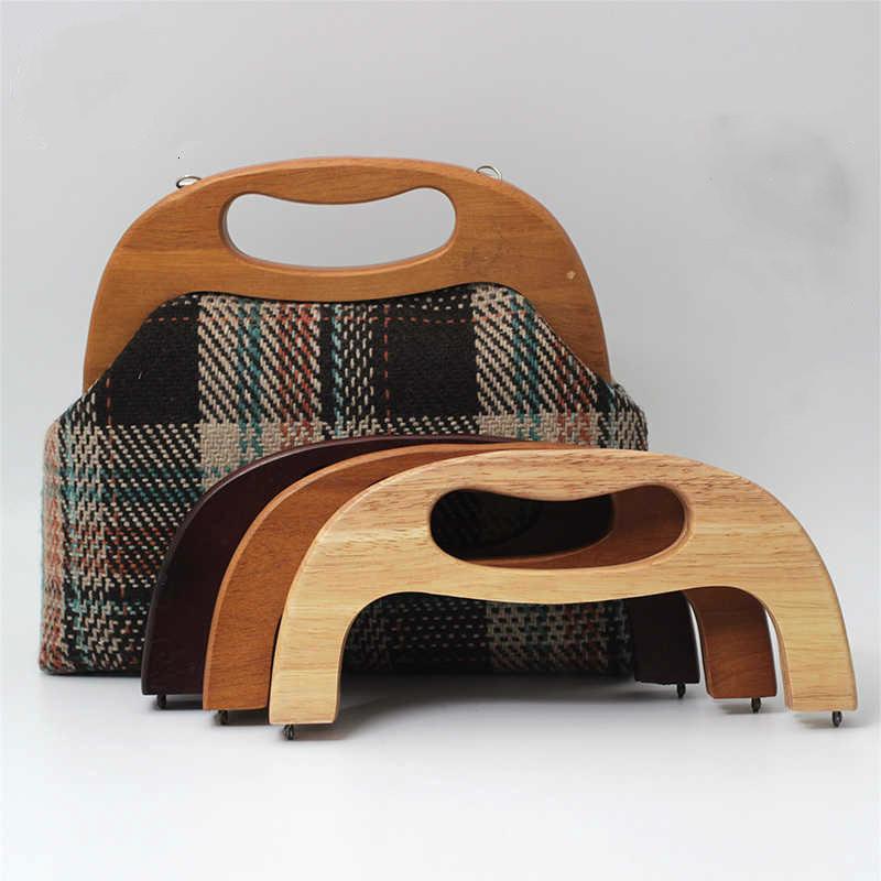 25cm High Quality Hand Solid Wood Golden Bag Parts Clutch Frame Arc Diy Vintage Bag Parts & Accessories