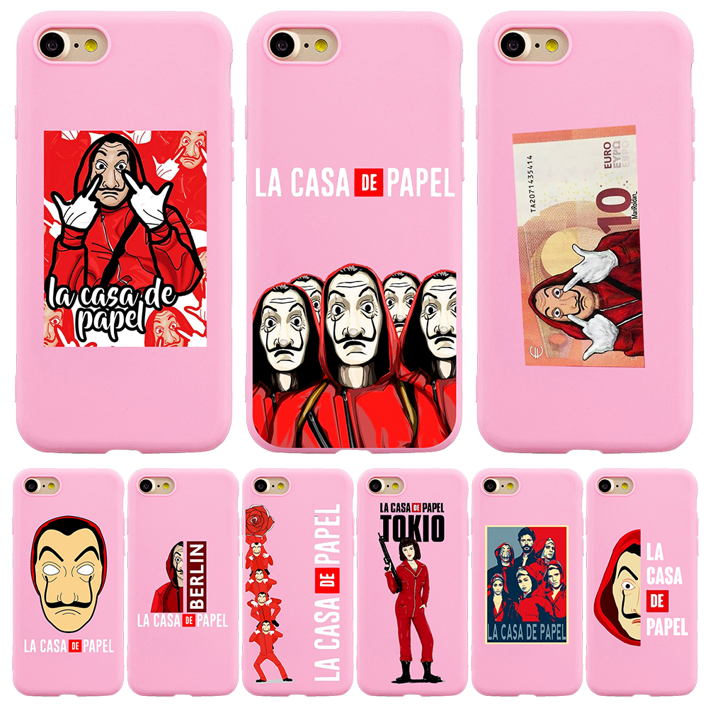 phone case etui For iPhone 6 6S 7 8 X XS Max XR 11 Pro Max funda silicone Spain TV La Casa de papel Money Heist House Of Paper