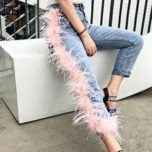 DEAT 2019 新ファッション女性ハイウエスト壊れタッセル毛皮パッチワーク Washted ジーンズ女性パンツ WH61705L ハイストリート
