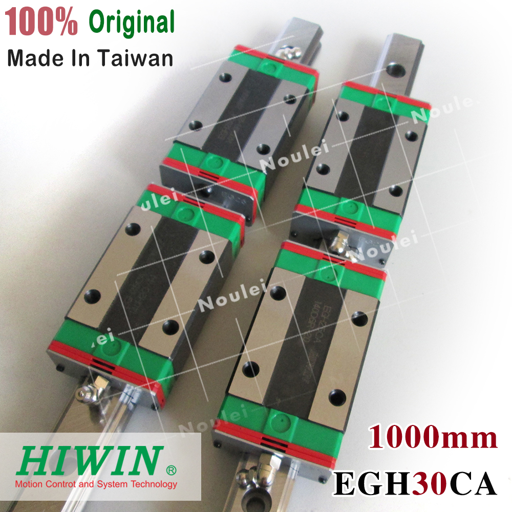 CNC Guide Rails, 2pcs HIWIN EGH30 Linear Rail 1000mm + 4pcs EGH30CA CNC Linear Guide Rail Block