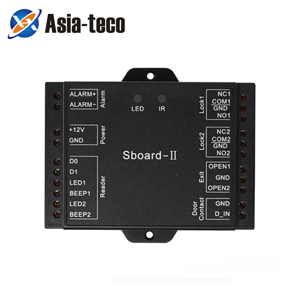 Sboard-II Mini Network 2 Door Access Controller Board Data Can Be Transferred Connect With Any Reader Wiegand 26~37 Output