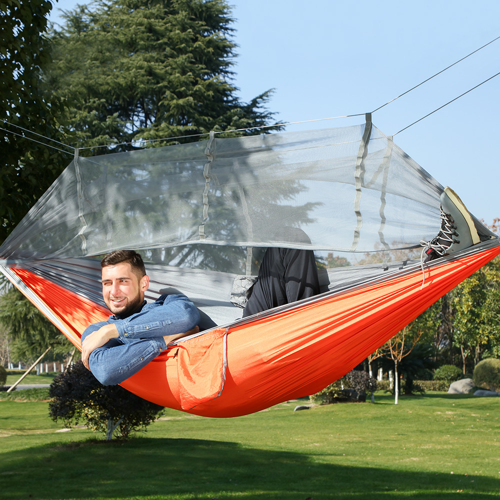 Outdoor Two-person Hammock Tent Mosquito Netting Hanging Bed Hunting Camping Chair Sleeping Swing Bed Hamak Hamaca Rede