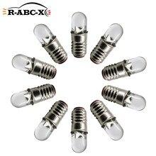 RUIANDSION – ampoules LED E5, 3V, 6V, 12V, 24V, blanc chaud, blanc froid, 60Lm, étanches, 4.5mm, remplacement économe en énergie, 10 pièces