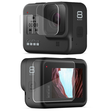 Vamson for Gopro Hero 8 Black Tempered Glass 9 pcs Protector Cover Case LCD Screen Protective