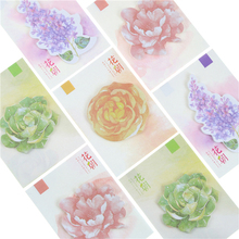 Stationery-Supplies Sticky-Notes Notebook Memo-Pad Flowers-Pattern Artistic Self-Adhesive