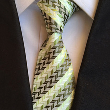 New Mans Accessories Skinny 8cm Ties for Men Gift Striped Woven Pattern  Fashion Business Slim Necktie Wedding Neckties