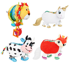 Baby Toys Cloth-Book Fox-Education 3d-Animal Kids with Round-Paper 10-Pages Unicorn Doll-Cow