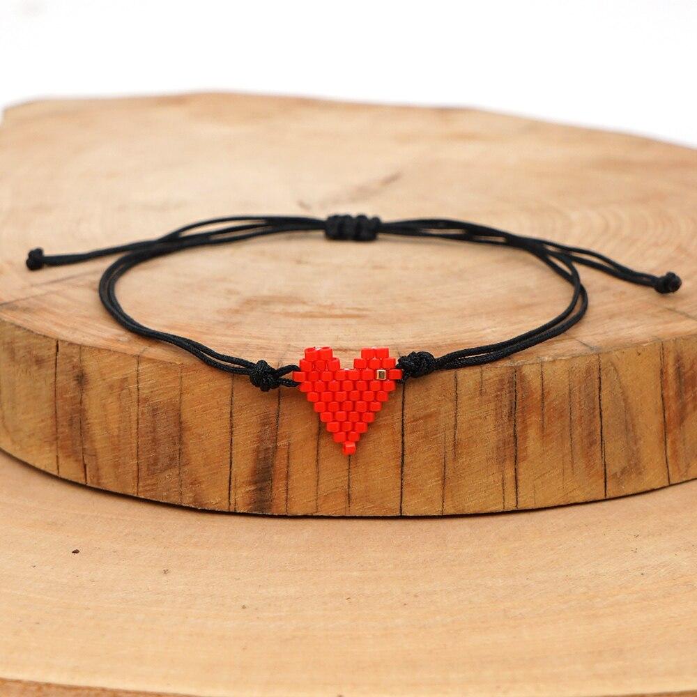 Go2boho MIYUKI Tiny Bracelet Pulseras Mujer Moda 2020 New Heart Bracelets For Women Love Couples Friendship Jewelry Gift For Her