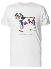 T-shirt da uomo colorata Rotweiler-Image By M Xl 2Xl 8Xl Tee Shirt