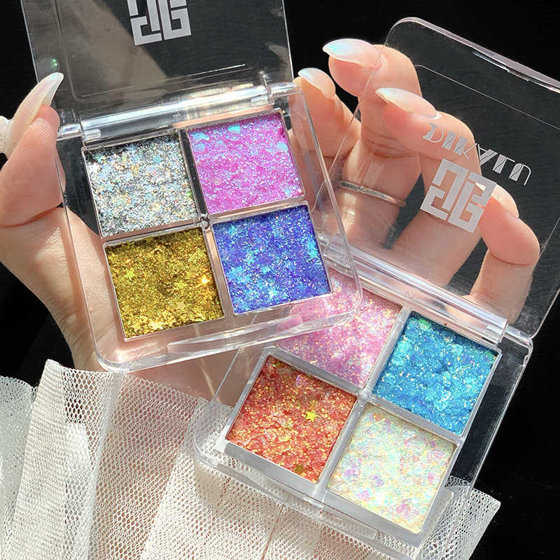 4 สี Matte Eye Shadow Palette Pearlescent อายแชโดว์ Eye Shadow Palette กันน้ำ Glitter Professional Eye Shadow TSLM1