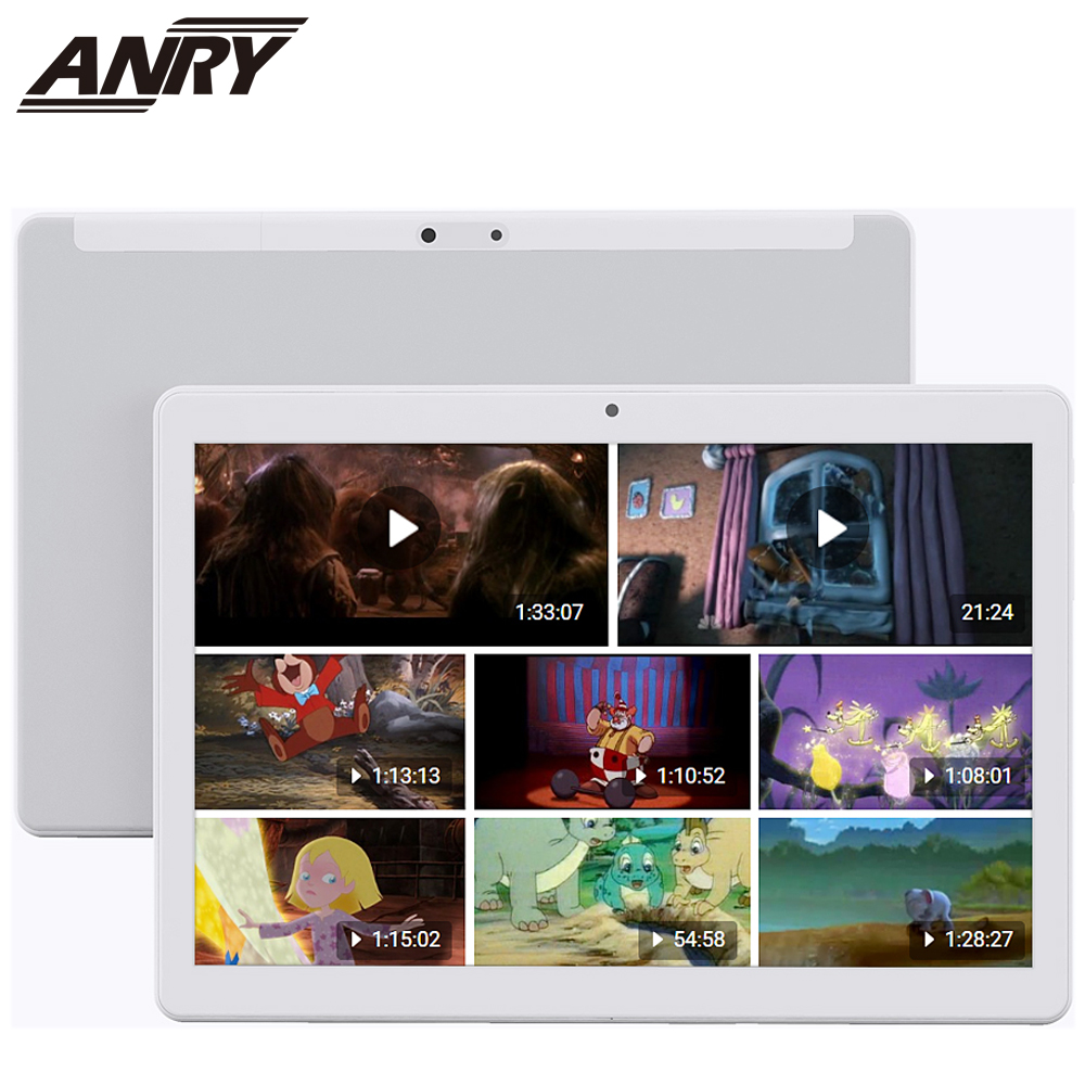 ANRY 2019 New 10 Inch Tablet PC 4G LTE Android 7.0 Octa 8 Core 4GB RAM 64GB ROM WiFi GPS 10.1 IPS 1280*800 5000mAh Battery