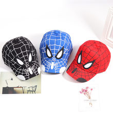 Superhero Kids Cap Spiderman Cartoon Kinderen Borduurwerk Katoenen Baseball Jongen Meisje Hip Hop Hoed Spiderman Cosplay Hoeden(China)