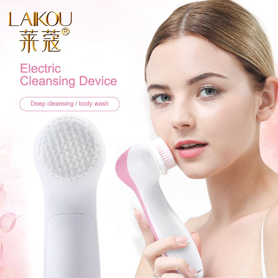 LAIKOU 5 In 1 Electric Facial Cleanser Wash Face Cleaning Mini Skin Pore Cleaner Beauty Body Massage Face Wash Brush Machine