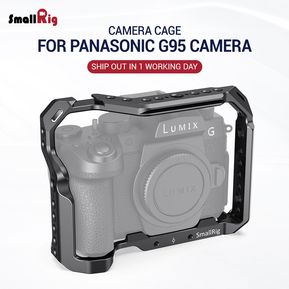 SmallRig G95 Vlog Camera Cage For Panasonic G95 Camera For Microphone Flash Light DIY Attach Extension Mount 2446